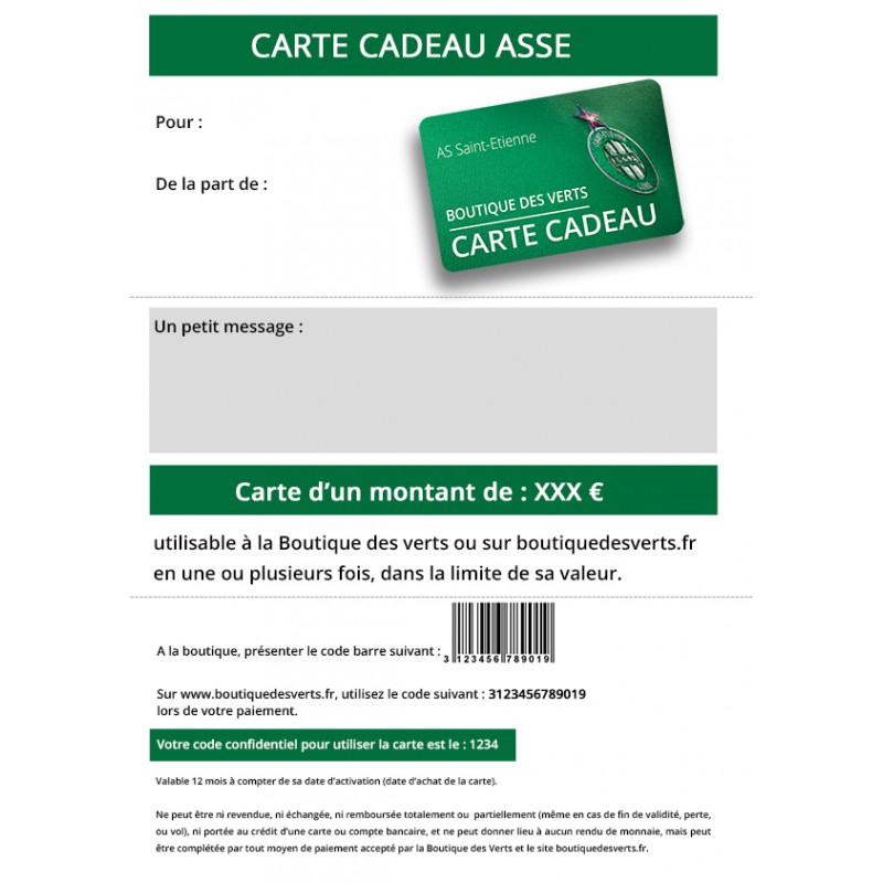 dbb6a3b6551f Carte cadeau ASSE - Boutique des Verts