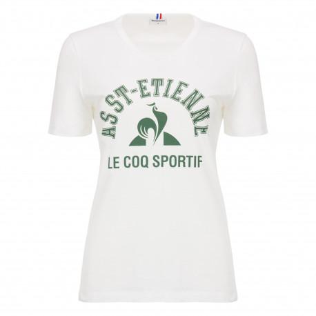 Tee-Shirt ASSE Le Coq Sportif WOMAN BLANC 2018 / 2019