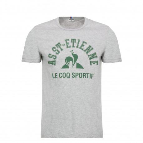 Tee-Shirt ASSE Le Coq Sportif N°4 gris 2018 / 2019