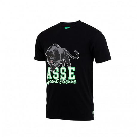 Tee-Shirt ASSE PANTHERE Noir 18/19