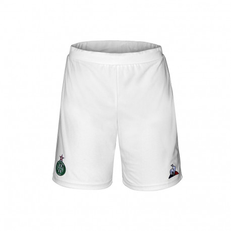 SHORT Junior ASSE Le Coq sportif BLANC 2019 / 2020