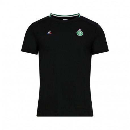 Présentation Tee-shirt ASSE Le coq sportif NOIR 2019 / 2020