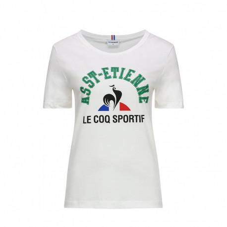 Tee-shirt femme ASSE Le Coq sportif FAN N°1 BLANC 2019 / 2020