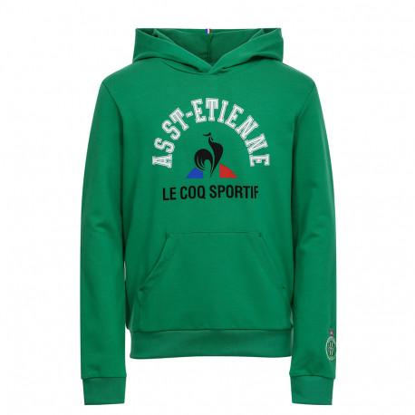 Sweat capuche ASSE Le Coq sportif FAN N°1 Junior VERT 2019 / 2020