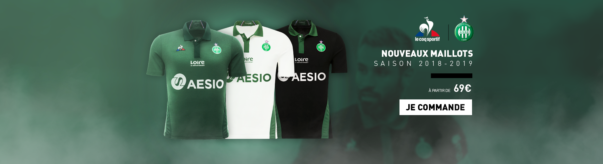 Maillots ASSE 2018 - 2019